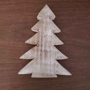 Rustic Farmhouse White Wood Christmas Tree